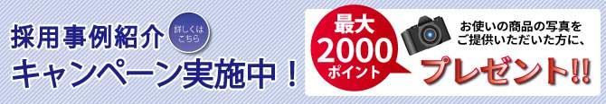最大2000円分のポイントがもらえる採用事例キャンペーン実施中