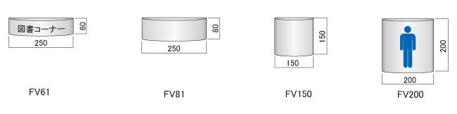 サインプレート F-PIC 平付 FVタイプ(FV61/FV81/FV150/FV200)_N