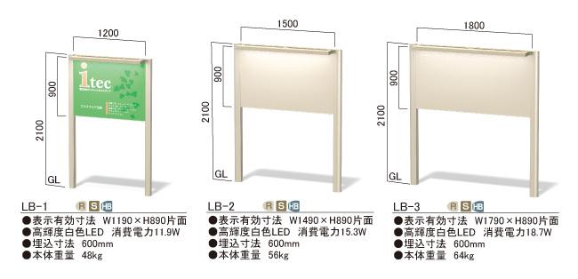屋外LEDサイン インフォメックス LBタイプ_N