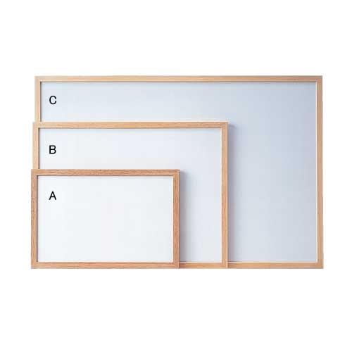 ウッドフレームボード ホワイトボード(A/B/C)