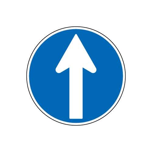 規制標識 直進