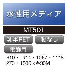 水性用 PET 糊なし MT501