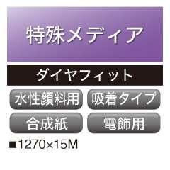 水性顔料用 ダイヤフィット 合成紙 バックリット 吸着 MQ-014