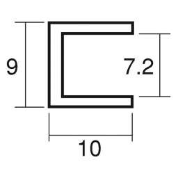 アルミフレーム スジナシ A7 L=3650mm(A7)_A