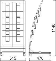 R型カタログスタンド PRX-25(PRX-25)_A