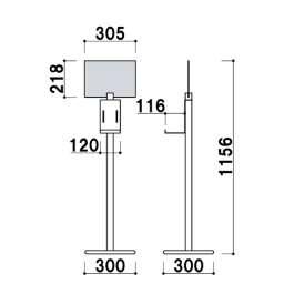 アルコール消毒液スタンド DSOシリーズ(DSO-4YS/DSO-4YB/DOS-4TS/DSO/4TB)_B