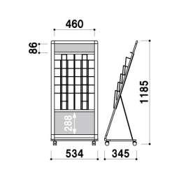 L型カタログスタンド PRL-052(PRL-052)_A