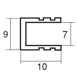 アルミフレーム スジアリ T7 黒 L=1860mm(T7)_A