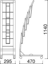 R型カタログスタンド PRX-15(PRX-15)_A