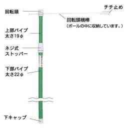 のぼり竿 E・C・Oポール PN-30(PN-30型)_B
