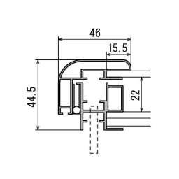壁面掲示板 6618 はね上げ式 屋外用(6618)_B