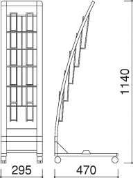 R型カタログスタンド PRX-12(PRX-12)_A