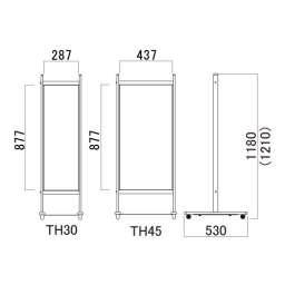 T型サインスタンド タッチ(TH30W/H30B/TH45W/TH45B/TH30Mg)_C