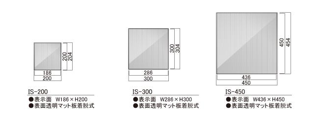 サインプレート イデア 平付 ISタイプ(IS-200/IS-300/IS-450)_s5