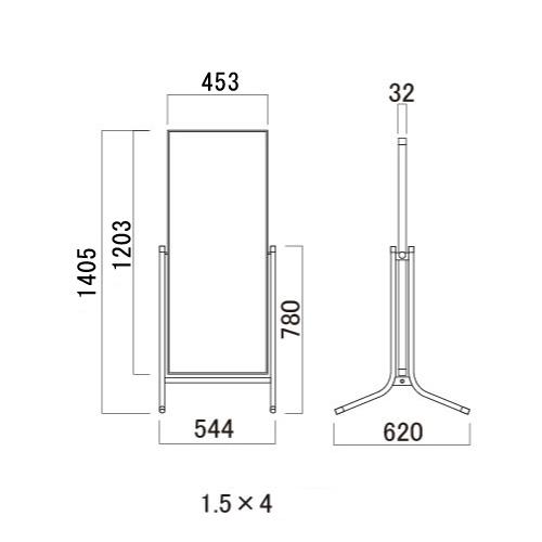 サインスタンド コロバン アルミ複合板タイプ(1×3/1.5×3/2×3/1.5×4)_5