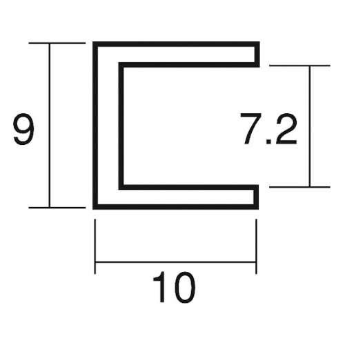 アルミフレーム スジナシ A7 L=3650mm(A7)_2