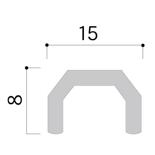 パノラマレール用U字バー U-4 L=4000mm(U-4)_2