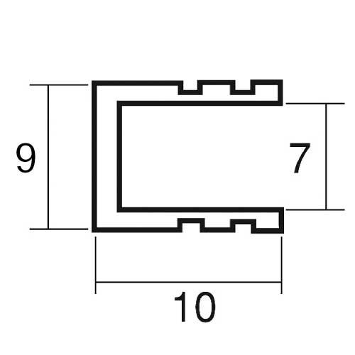 アルミフレーム スジアリ T7 黒 L=1860mm(T7)_2