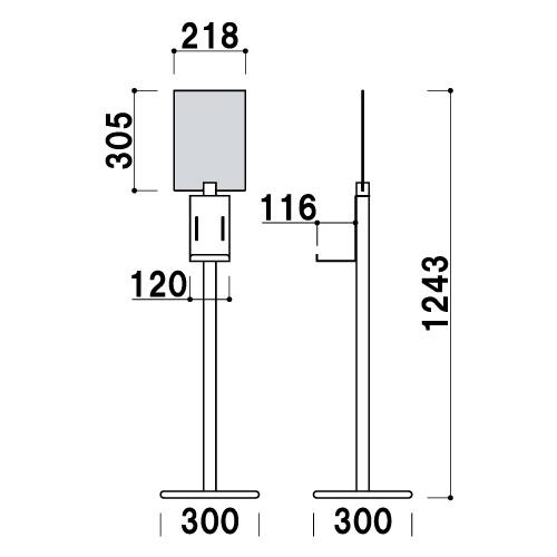 アルコール消毒液スタンド DSOシリーズ(DSO-4YS/DSO-4YB/DOS-4TS/DSO/4TB)_4