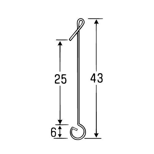 ラクチンフック 標準型 (標準型 No132)_2