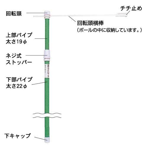 のぼり竿 E・C・Oポール PN-30(PN-30型)_3