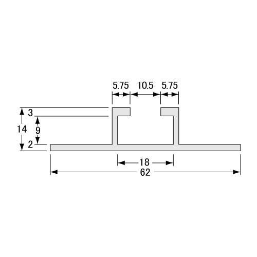 標識・看板 平リブ L=4000mm_2