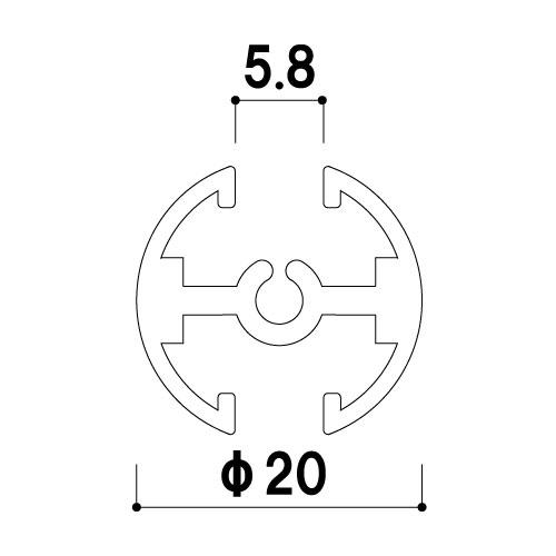 タペストリーバー F20 カット対応(F20)_2