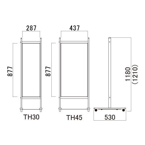 T型サインスタンド タッチ(TH30W/H30B/TH45W/TH45B/TH30Mg)_4