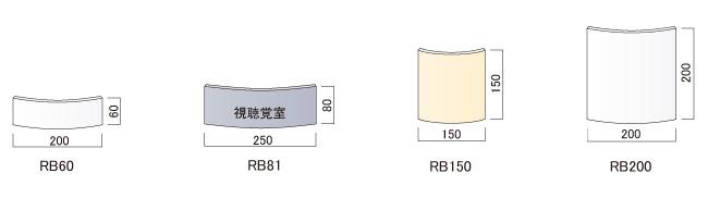 サインプレート F-PIC 平付 RBタイプ(RB60/RB81/RB150/RB200)_s5
