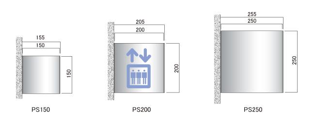 サインプレート O-PIC 突出 PSタイプ(PS150/PS200/PS250)_s5